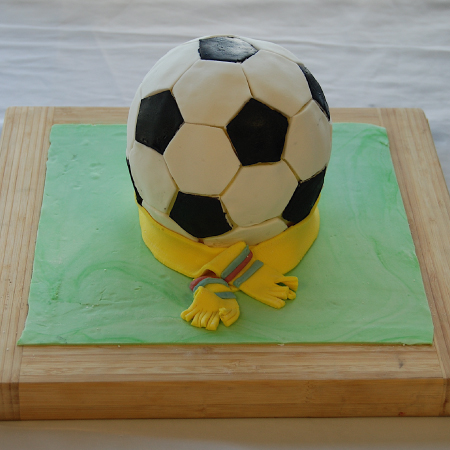 soccer as they say in New Zealand, and the request was a football cake.