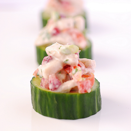 Pacific Coconut Fish Canapes | Pease Pudding