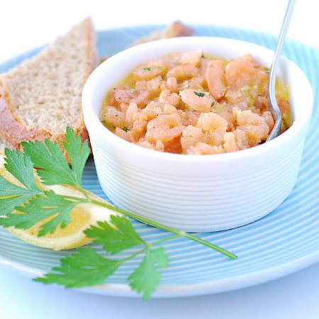 Potted Shrimps with Sour Dough | Pease Pudding